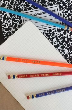DIY Personalized Pencils // via camille styles