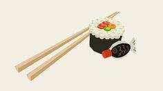 Sushi 3D | by Anneka Tran