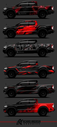 design by Richard Andersen rbon. More Wrap design by Richard Andersen rbon. More -Wrap design by Richard Andersen rbon. More - Cool Trucks, Cool Cars, Carros Lamborghini, Car Brands, Car Painting, Truck Accessories, Car Wrap, Car Stickers, Offroad