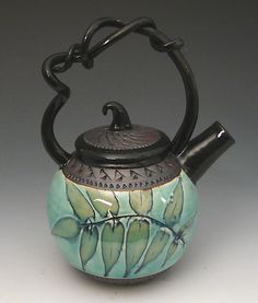 WANT WANT NEED!! Little Kiss Teapot, Sumac: Suzanne Crane: Ceramic Teapot | Artful Home