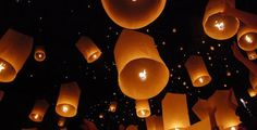 Floating lanterns at the end of the night are fun way to let the world know. Make the lanterns biodegradable and animal friendly to show you care ;)