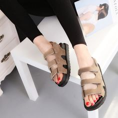 17.91$  Buy now - http://ali8b9.shopchina.info/go.php?t=32802775556 - 2017 Fashion Summer Women's Sandals Casual Sport Breathable Shoes Woman Comfortable Wedges Sandals Lace Platform Sandalias 17.91$ #buyonlinewebsite