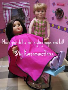 doll hairstyling cape and hair care kit