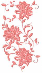 Pink flower free embroidery design