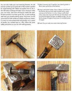 How to make your own texturing hammer #texturinghammer #metaljewelry