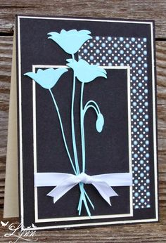 I was playing around with my Poppy die and this is what I came up with. I LOVE that blue color (Robin's Egg) and it matched perfectly wi...