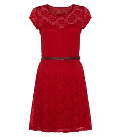 Red Cap Sleeve Floral Lace Skater Dress Look Red Lace, Floral Lace, Casual Dresses, Dresses For Work, Formal Dresses, New Dress, Lace Dress, Smart Dress, Date Night Dresses