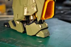 As for the other parts, on legs I added more panel lines, otional parts and pla plates....