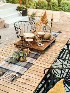 Personalized Wool Plaid Table Runner/Blessed Pendelton Wool Blue Plaid, Natural Leather, Table Runners, Tablescapes, Shabby Chic, Blessed, Seasons, Table Decorations, Wool