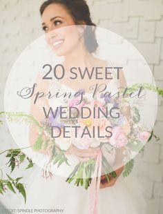 20 Spring Pastel Wedding Details | SouthBound Bride | http://www.southboundbride.com/20-spring-pastel-wedding-details | Credit: Spindle Photography