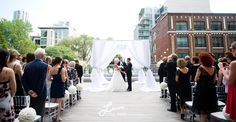 Outdoor wedding at Thompson Toronto