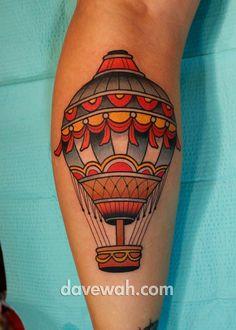 Liz's hot air balloon tattoo