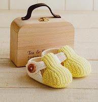 ENLAZADA AL CROCHET: Zapatitos bebé
