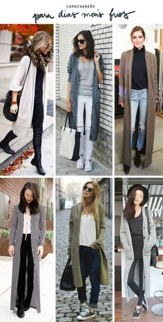 Have a look at all of these move attire to feature to all of your move fashion outfit collection! Maxi Cardigan, Outfits With Grey Cardigan, Long Sweater Outfits, Long Sweaters, Long Cardigan, Casual Outfits, Cute Outfits, Fashion Outfits, Winter Cardigan Outfit