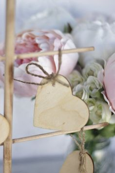 Wood Hearts Wedding Guest Book Wishing Tree Tags by braggingbags, $11.00
