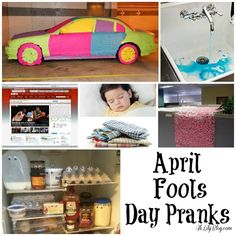 April fools day pranks, so I can get revenge on those boys!!