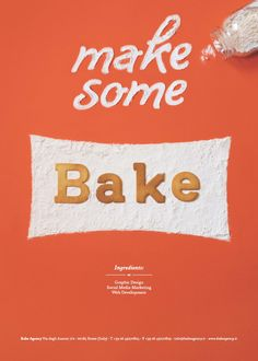 #handmade #typeface Quando il dolce è fonte di #ispirazione... Make some Bake !!! Love it !!! www.bakeagency.it