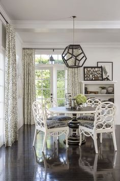 Dare to be adventurous with patterns and geometric lines found in furniture, textiles, and accessories. Take inspiration from this dining room from Decorist.