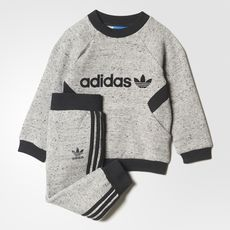 adidas - Trefoil French Terry Crew Track Suit