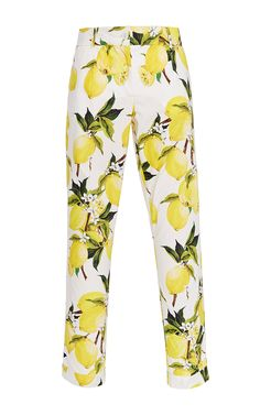Lemon Printed Cotton Cropped Pants by DOLCE & GABBANA Now Available on Moda Operandi