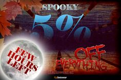 """Few hours left !  Just enter """"boo"""" at the checkout to receive 5% OFF on Everything!  www.proswimwear.co.uk  #discount #promotion #sale #swimming #lastchance"""
