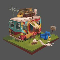 ArtStation - The Camp of the Hippies, Julia Rangel