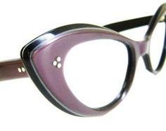 676a6a495fc8 Vintage 50s Black Cat Eye Eyeglasses Frame by Vintage50sEyewear Vintage  Wear
