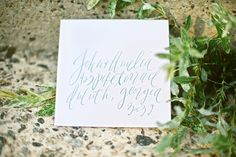 Calligraphy Inspiration: Brown Linen Calligraphy & Design via Oh So Beautiful Paper