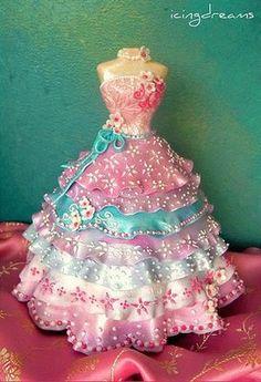 beautiful doll dress cake