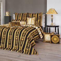 Versace Tagesdecke + Bettwäsche Medusa Designer Bettwäsche, Luxus,  Schlafzimmer, Deko, Wohnen,