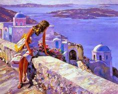 ART~ Lavenders And Blues~ Howard Behrens ~