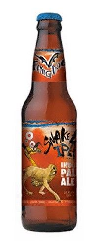 Cerveja Flying Dog Snake Dog IPA, estilo India Pale Ale (IPA), produzida por Flying Dog Brewery, Estados Unidos. 7.1% ABV de álcool.
