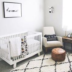 Crib and carpet