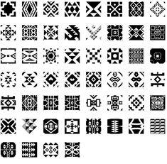 African Pattern Zulu regular for art homework African Logo, African Symbols, African Theme, African Textiles, African Fabric, African Patterns, Etnic Pattern, Pattern Design, Zulu