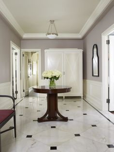 Flooring, Fascinating White Marble Foyer Flooring Design Ideas: Beautiful Foyer Flooring Design Ideas