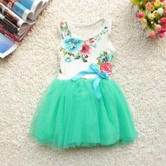 Vestido Primavera Encantada com Saia em Tule