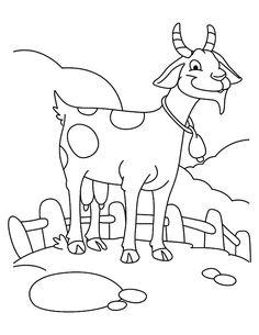 Goat, : Farming Goat Coloring Pages