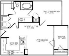 Darn near perfect small home floor plan. Just a few tweaks and its mine! Or is it an apartment floorplan? Small House Floor Plans, Small Tiny House, Cabin Floor Plans, Tiny House Living, Small Homes, Cottage Plan, Cabins And Cottages, Little Houses, Tiny Houses