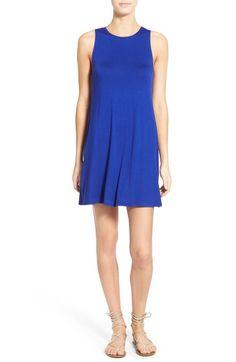 nordstrom socialite high neck dress, royal blue swing dress