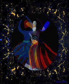 Title: Peeling Away The Layers Artist: Atousa Raissyan Medium: Painting - Digital Art - Mixed Media
