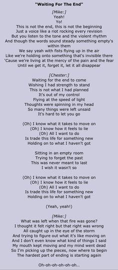 waiting for the end // linkin park • lyrics