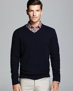 The Men's Store at Bloomingdale's Cashmere V-Neck Sweater | Bloomingdale's