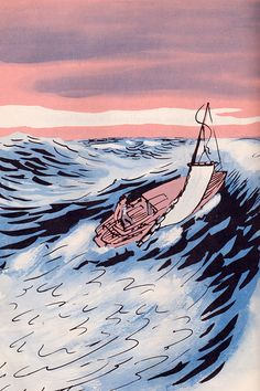 Illustration from The Plumber Out of the Sea, 1955,  Marc Simont