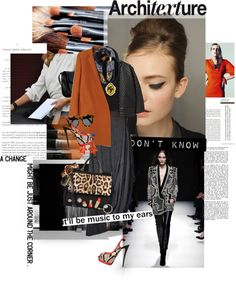 """""""Leopard & shade of orange #242"""" by fransi ❤ liked on Polyvore"""