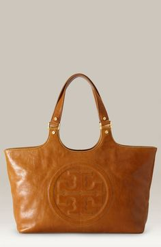 Tory Burch 'Bombe' Glazed Leather Tote