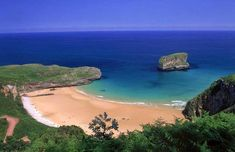 Actually it's the Bay of Biscay. One of a set of beautiful beaches in Asturias, northern Spain. flying time from London. Places To Travel, Places To Visit, Asturias Spain, Beach Vibes, Paraiso Natural, World Geography, Hidden Beach, Spain And Portugal, Beach Wear