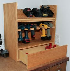 Cordless drill charging station - by HickoryHill @ LumberJocks.com ~ woodworking community