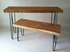 Minneapolis: Sofa or Hall Solid Wood Table with Hairpin Legs $175 - http://furnishlyst.com/listings/138714