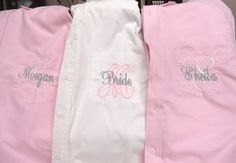 Personalized Bridal Party Shirt set of 6  Monogrammed by elriley, $204.00