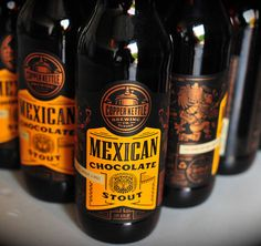 Copper Kettle Mexican Chocolate Stout label by Emrich Office.